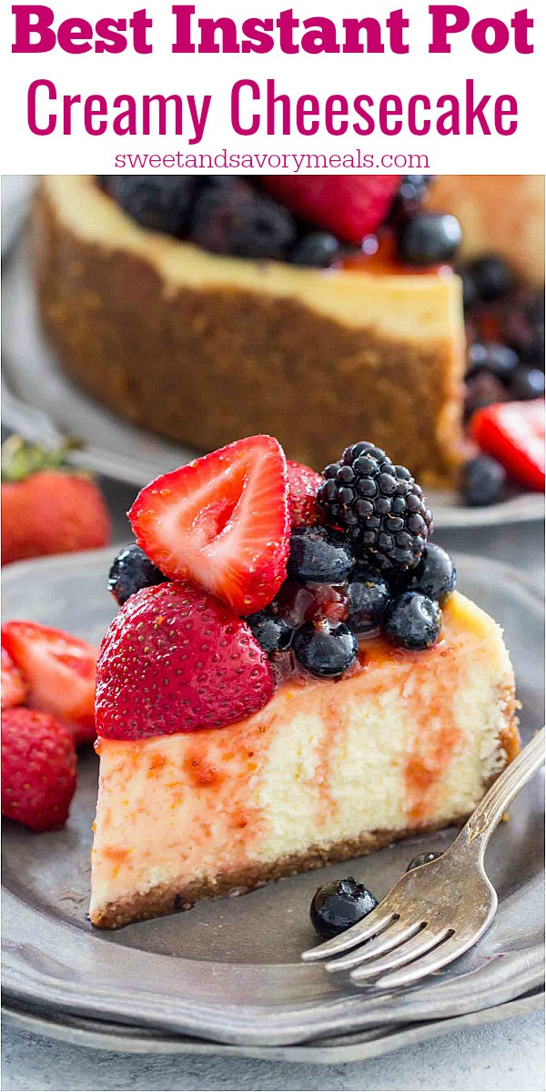 Instant Pot Springform Pan Recipes  Best Instant Pot Cheesecake [VIDEO] Sweet and Savory Meals