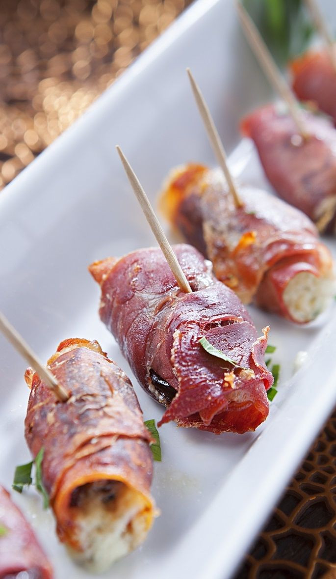 Italian Appetizers Easy  oven baked prosciutto wrapped dates change out cheese