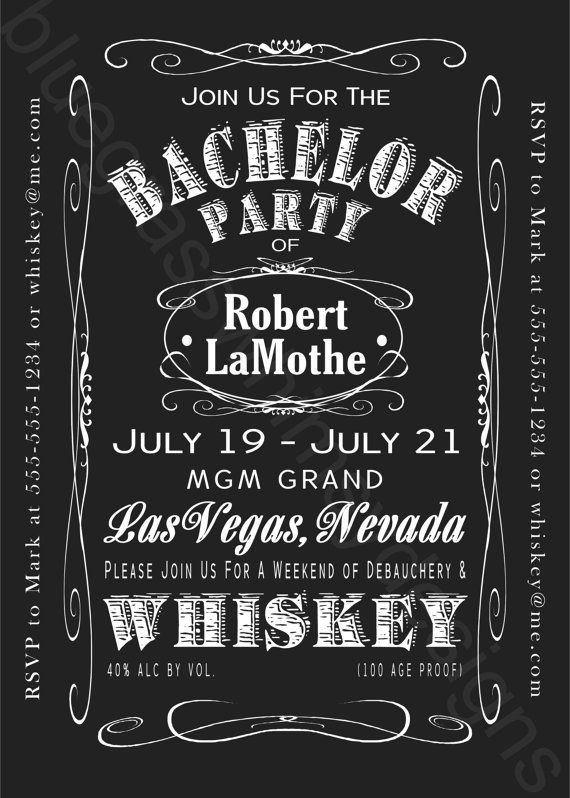 Jack And Jill Bachelor Bachelorette Party Ideas  JACK DANIELS Bachelor Party Weekend 5x7 by BluegrassWhimsy