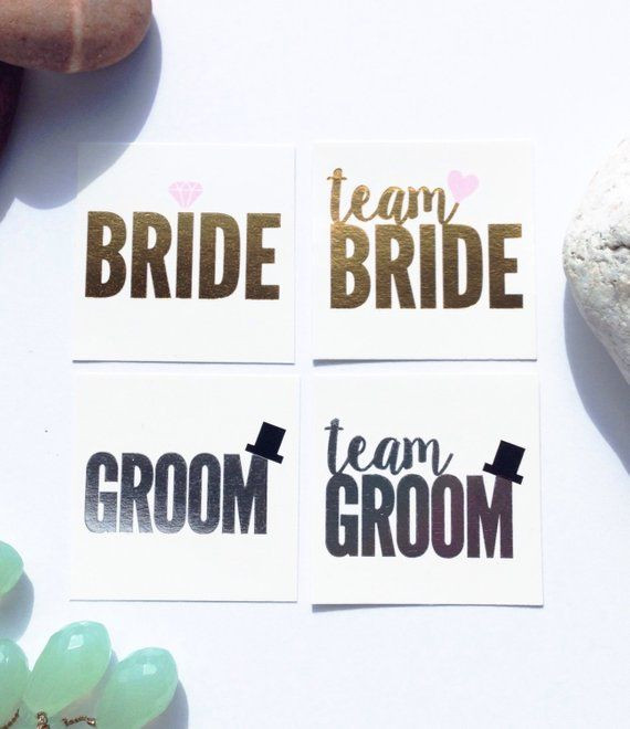 Jack And Jill Bachelor Bachelorette Party Ideas  16 Team Bride & Team Groom Tats Stag and Doe Jack and