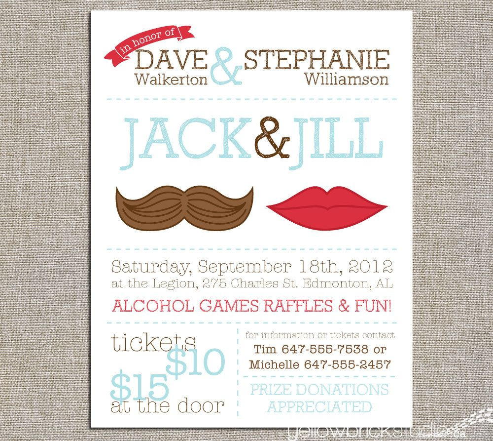 Jack And Jill Bachelor Bachelorette Party Ideas  Jack & Jill Tickets Mr and Mrs