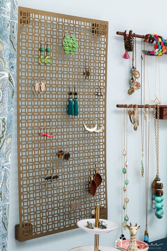 Jewelry Organization DIY  Easy DIY Jewelry Organization For Necklaces Earrings and
