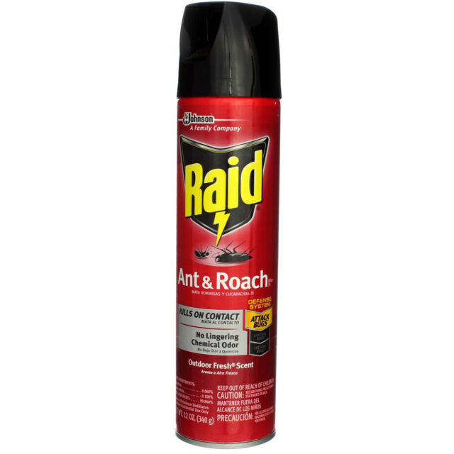 Johnson'S Backyard Garden  Raid Ant & Roach Killer Spray for Bugs Insect Spider 12
