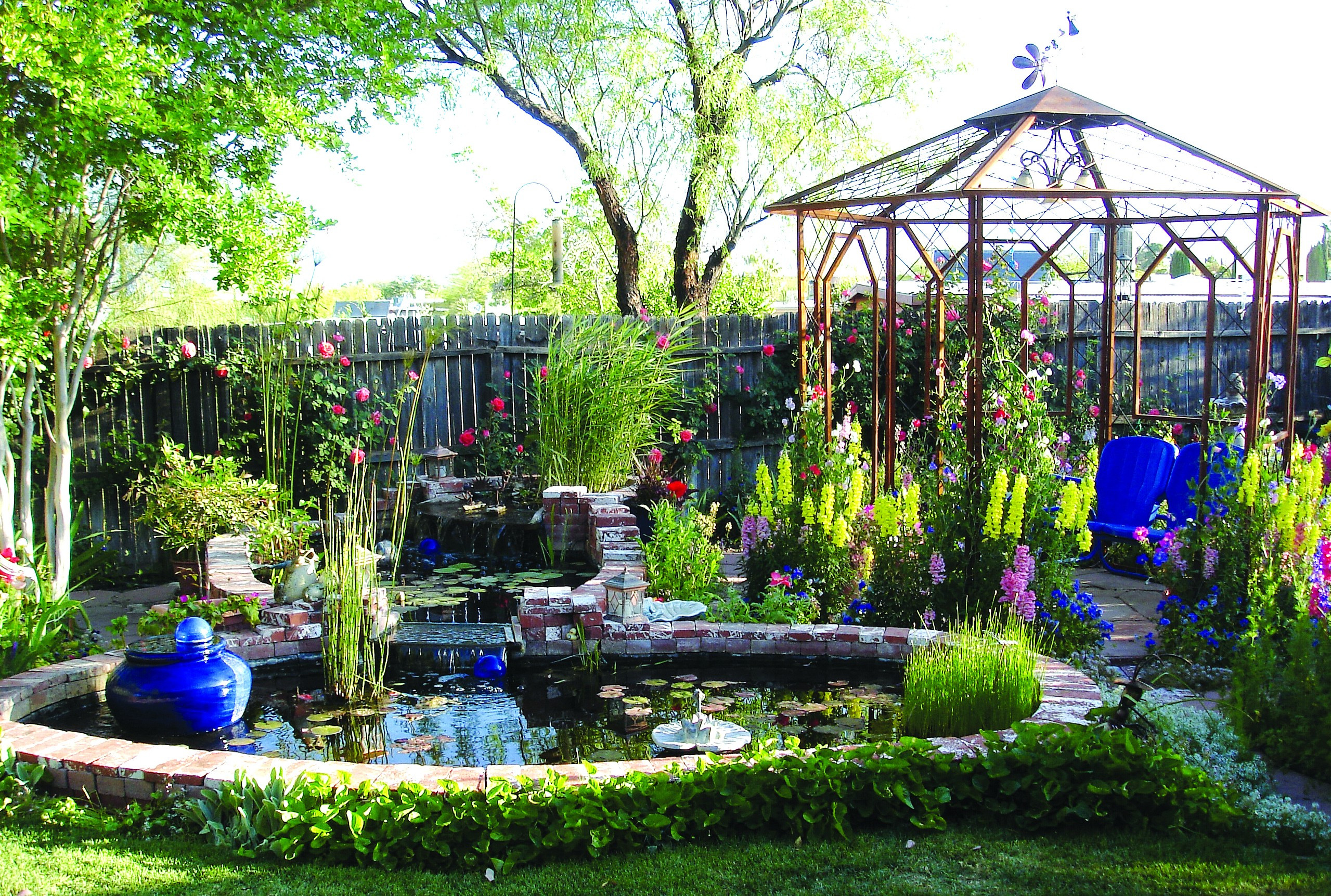 Johnson'S Backyard Garden  Add music and color to your backyard with watergardens