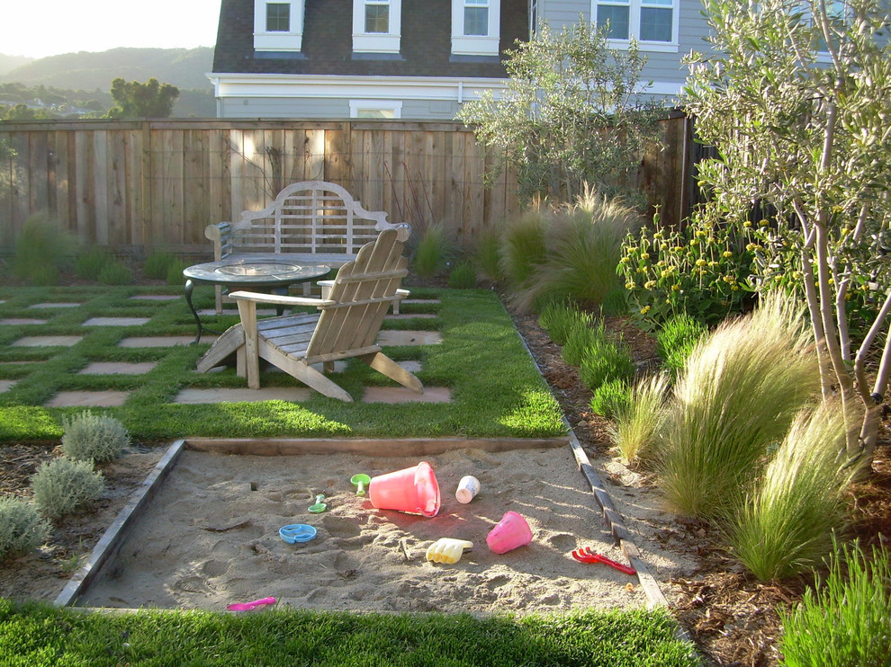 Kid Friendly Backyard Ideas  Gorgeous sandboxes in Landscape Traditional with