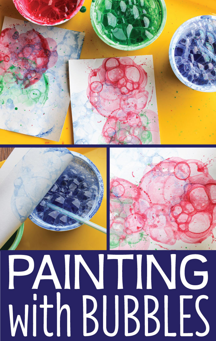 Kids Art Projects  Art Activities for Kids Painting with Bubbles Early