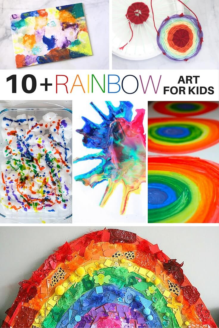 Kids Art Projects  10 Rainbow Art Activities for Kids ⋆ Sugar Spice and Glitter