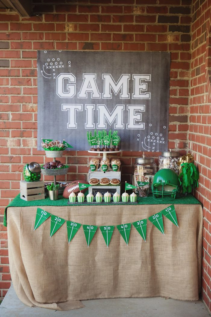 Kids Birthday Party Places In Northwest Indiana  Kara s Party Ideas Tailgate Football Birthday Party