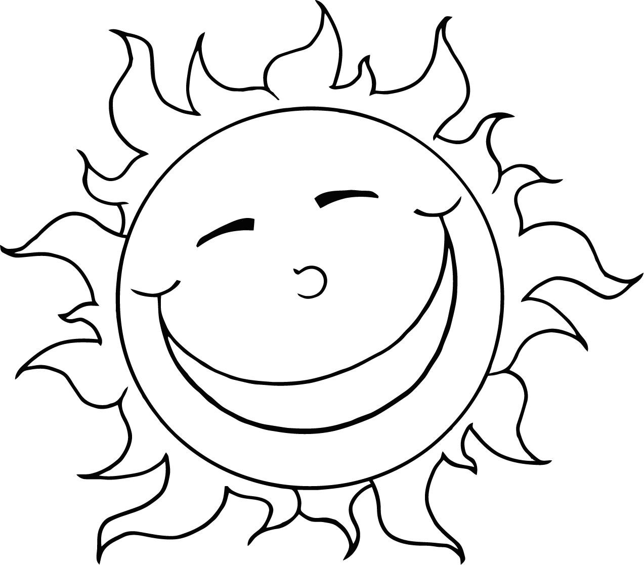 Kids Coloring Picture  Free Printable Sun Coloring Pages for Kids