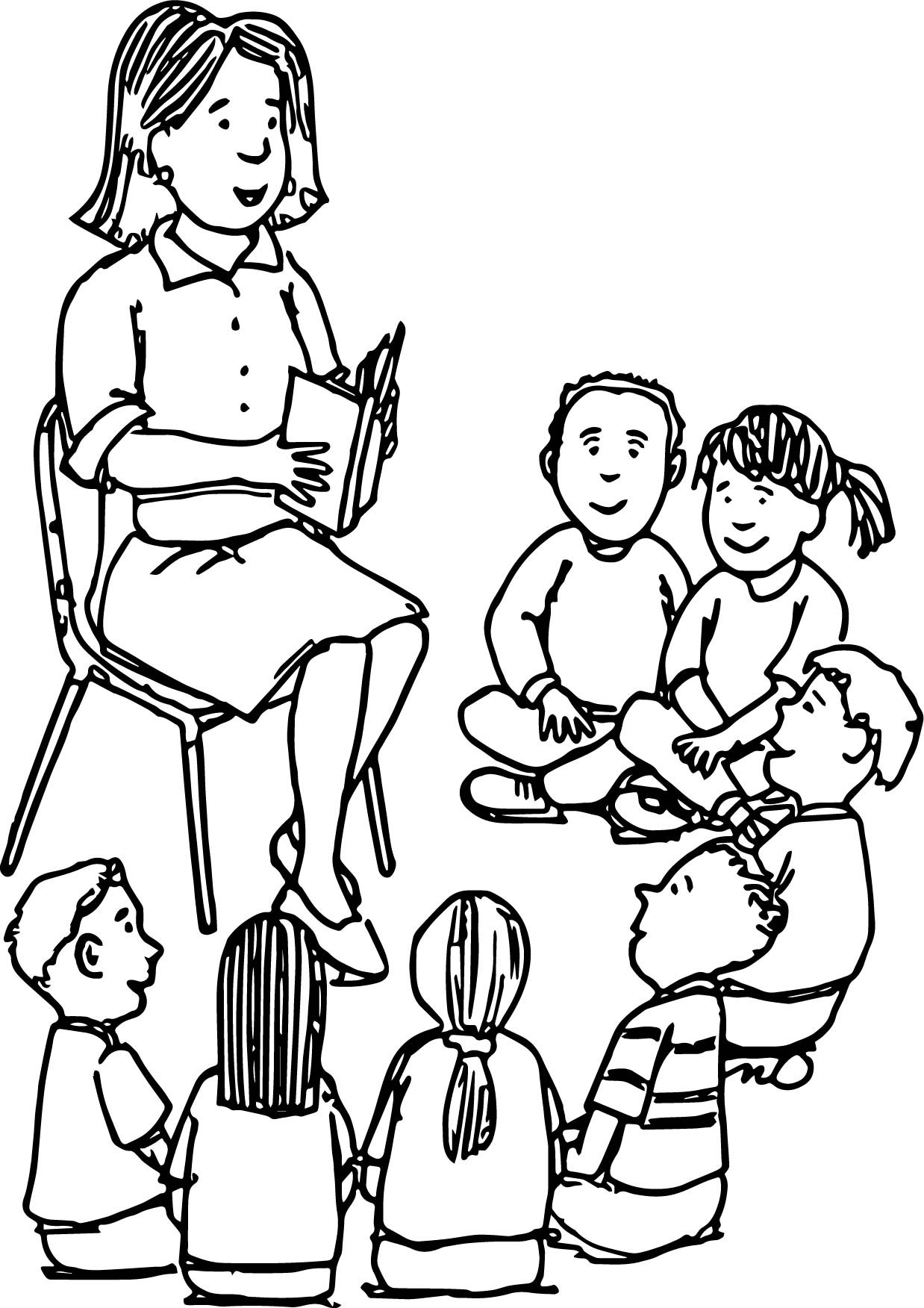 Kids Coloring Picture  Teacher Coloring Pages Best Coloring Pages For Kids