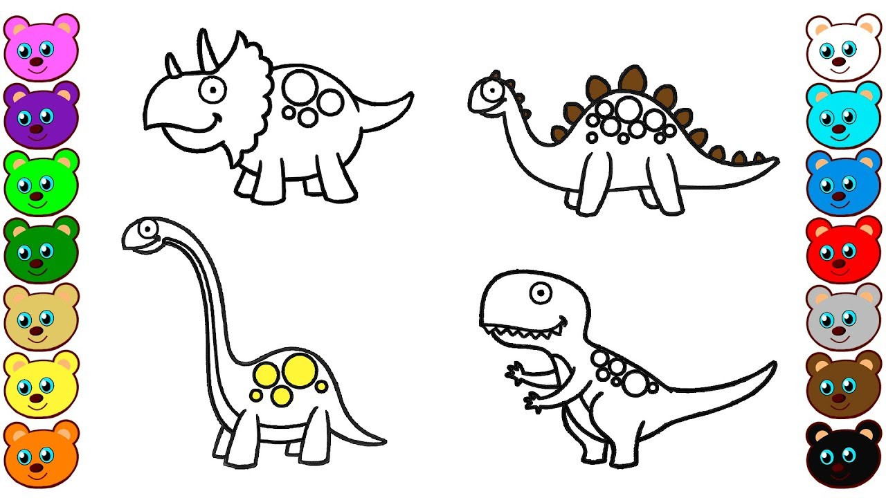 Kids Coloring Picture  Dinosaurs for Kids Colouring Pages for Toddlers