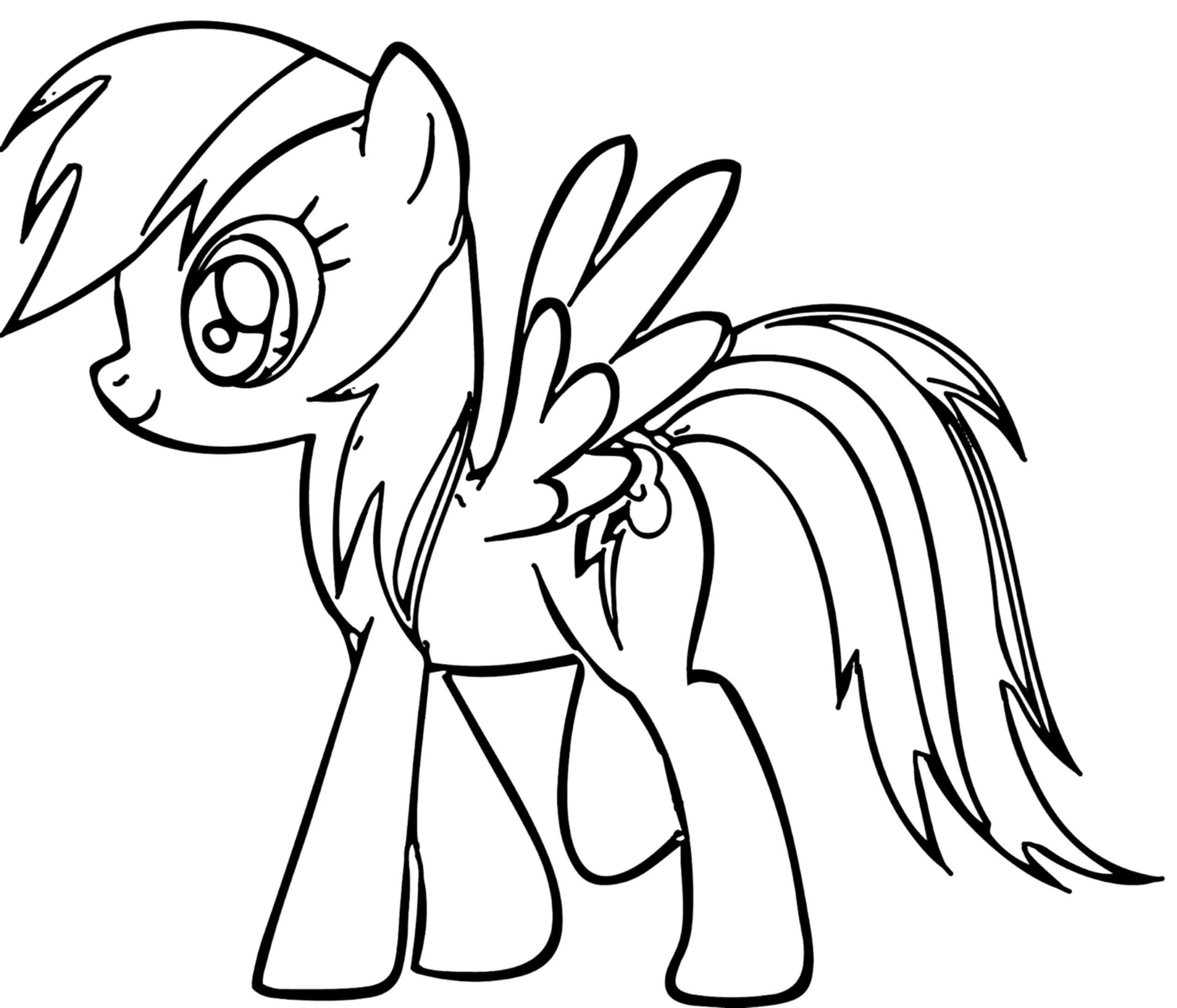 Kids Coloring Picture  Rainbow Dash Coloring Pages Best Coloring Pages For Kids