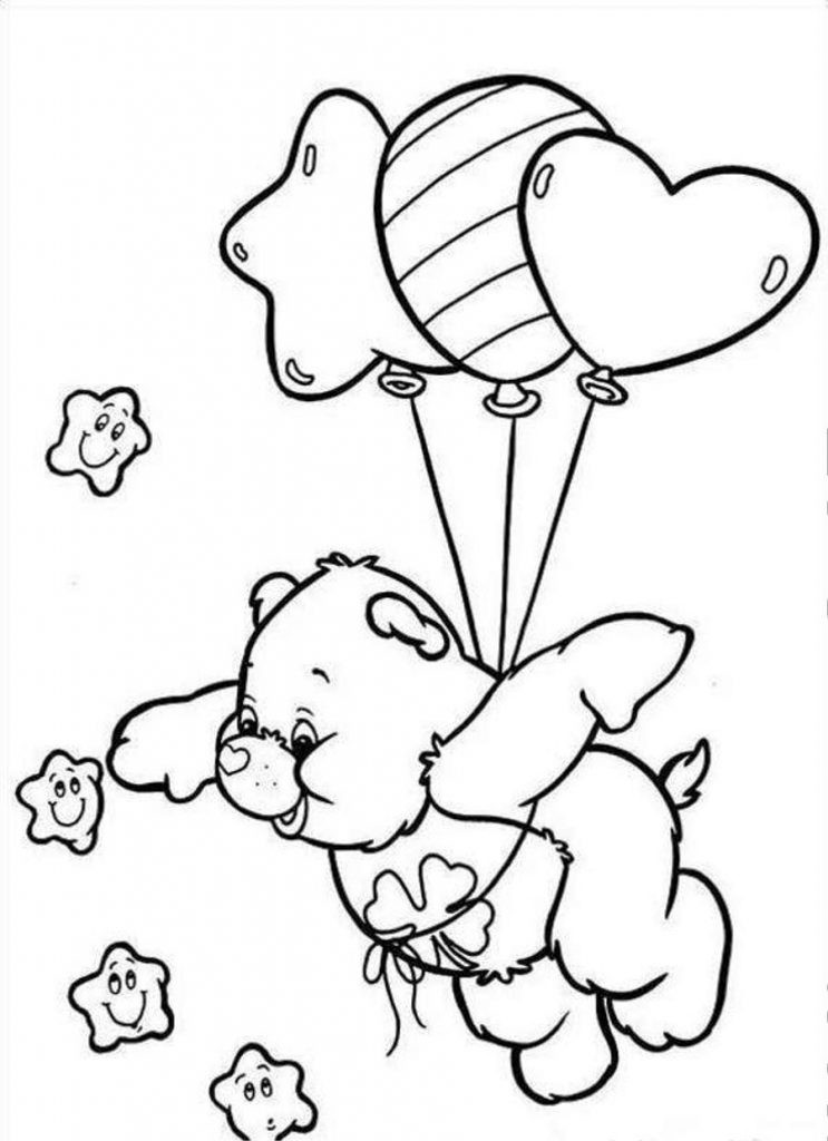 Kids Free Coloring Pages  Free Printable Care Bear Coloring Pages For Kids