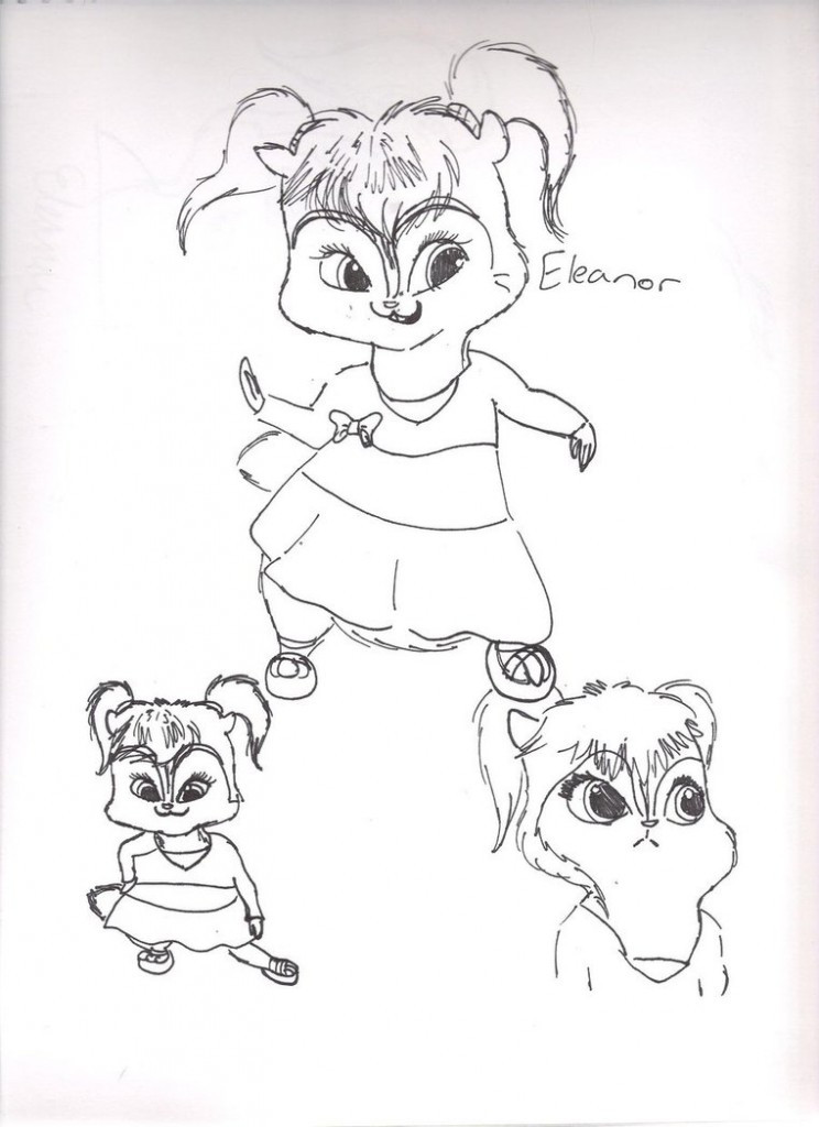 Kids Free Coloring Pages  Free Printable Chipettes Coloring Pages For Kids