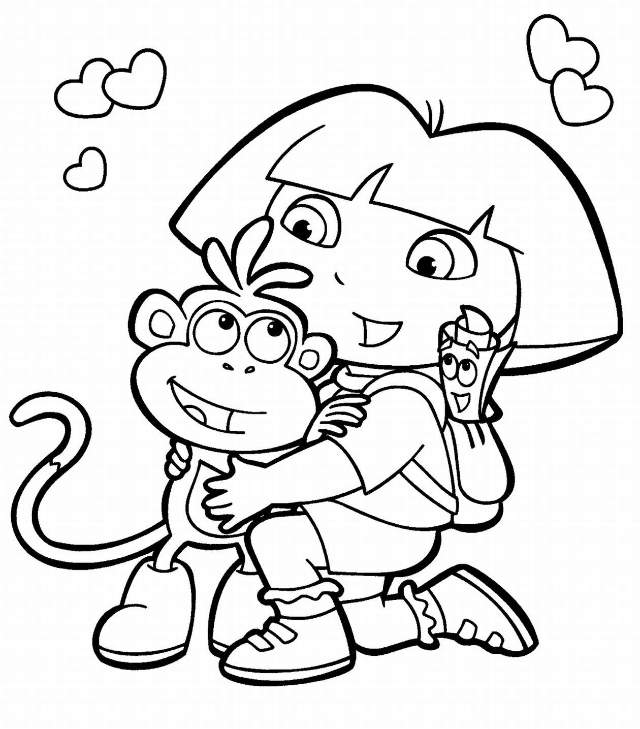Kids Free Coloring Pages  free printable coloring pages for kids