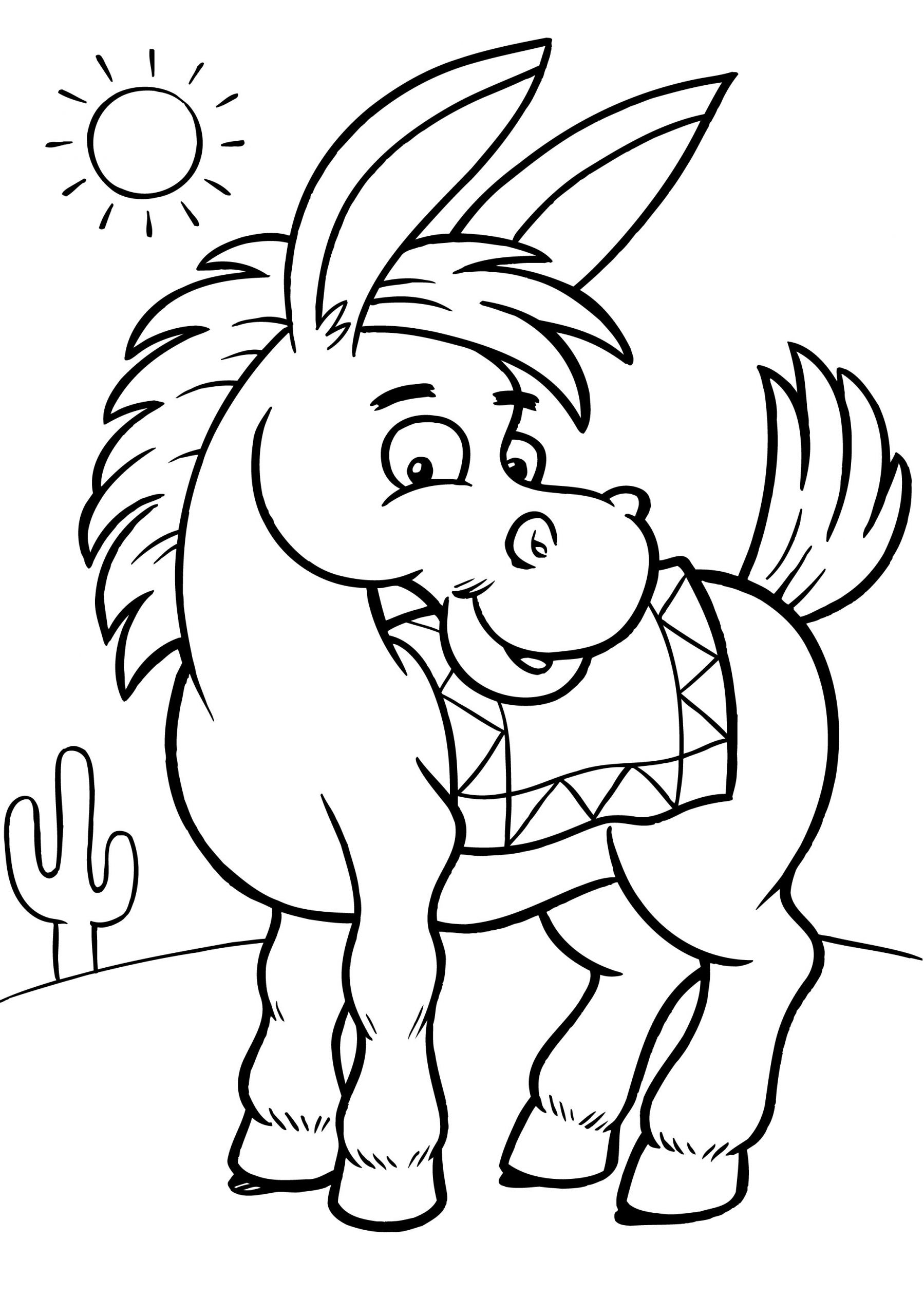 Kids Free Coloring Pages  Free Printable Donkey Coloring Pages For Kids