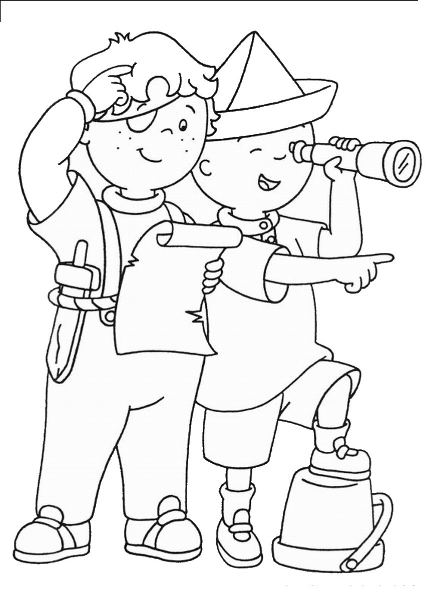 Kids Free Coloring Pages  Caillou Coloring Pages Best Coloring Pages For Kids