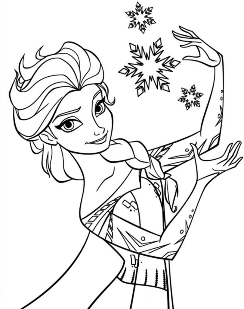 Kids Free Coloring Pages  Free Printable Elsa Coloring Pages for Kids Best