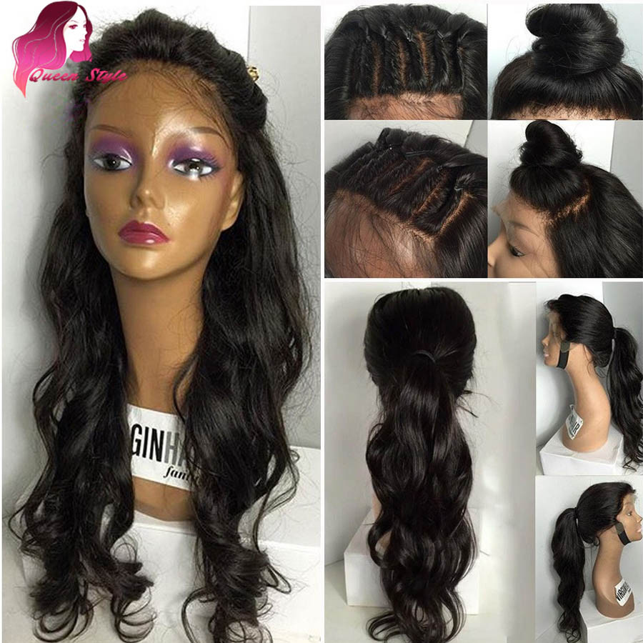 Lace Wigs Baby Hair  Full Lace Human Hair Wigs For Black Women Brazilian