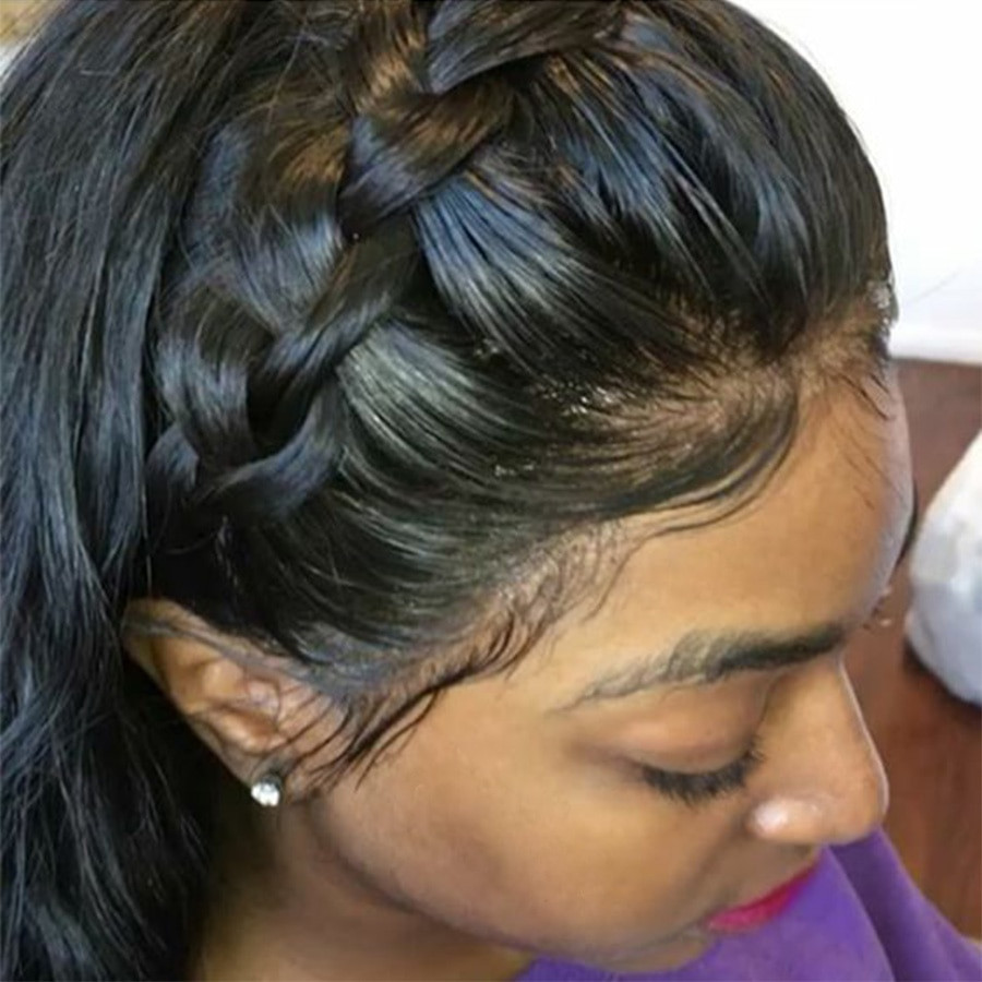 Lace Wigs Baby Hair  Aliexpress Buy Malaysian Straight Lace Front Human
