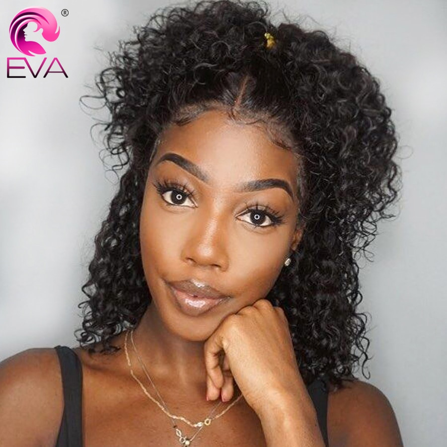 Lace Wigs Baby Hair  Eva 13x4 Short Curly Lace Front Human Hair Wigs Pre