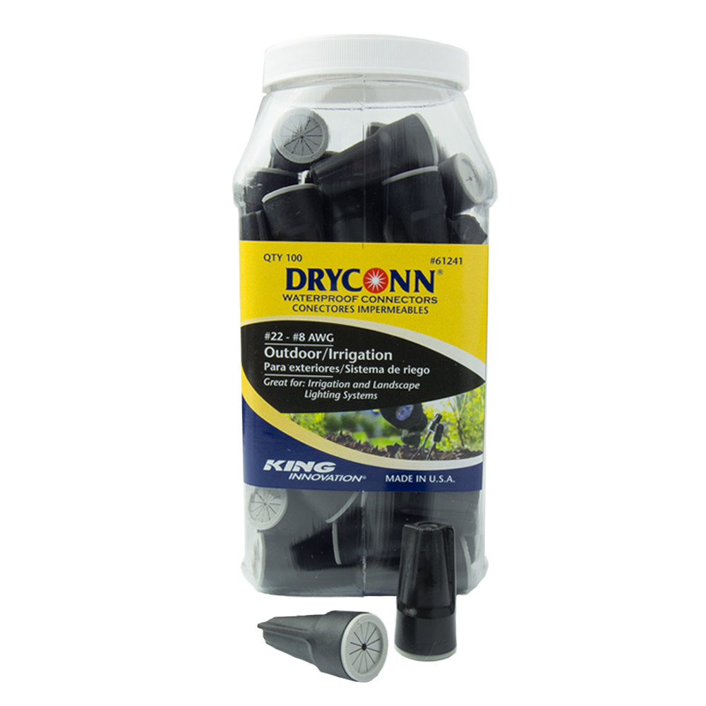 Landscape Lighting Wire Connectors  DryConn Black and Grey Waterproof Connectors