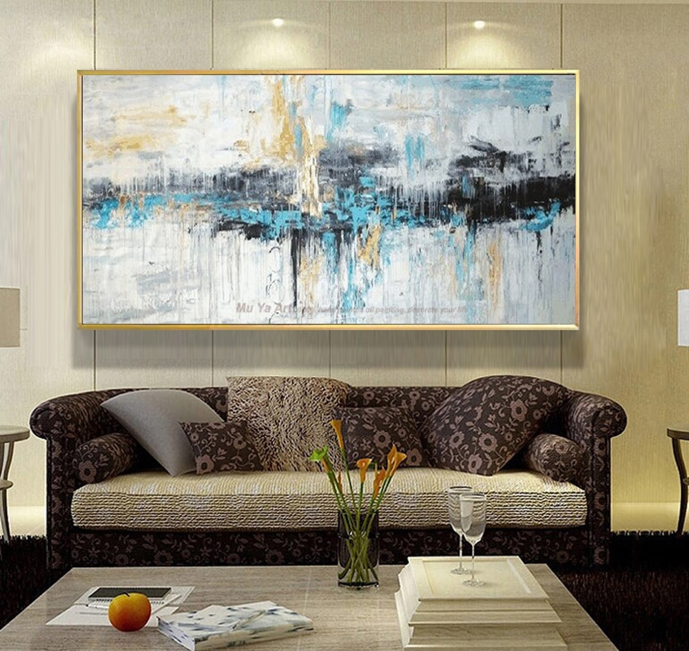 Large Paintings For Living Room  Abstract art painting modern wall art canvas pictures