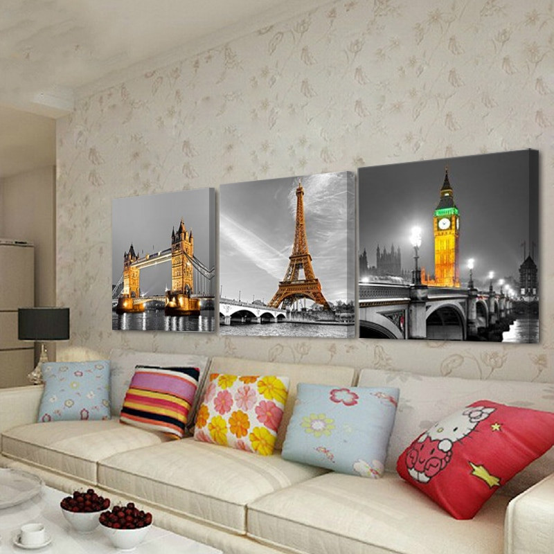 Large Paintings For Living Room  3pcs tree pictures home decoration wall paintings for