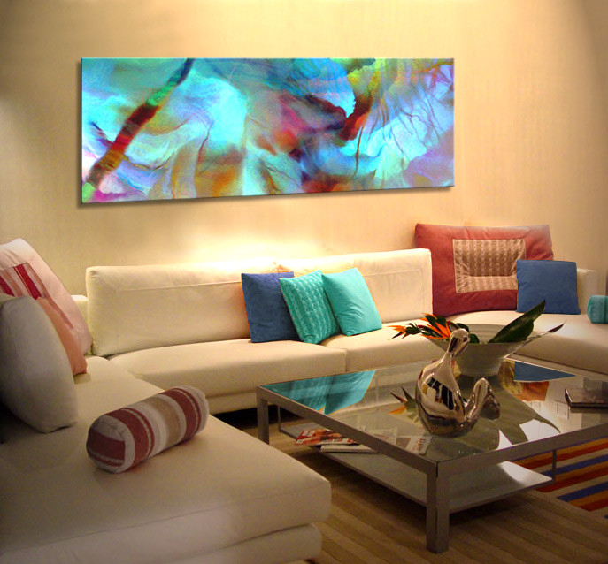 """Large Paintings For Living Room  """"Secret Garden"""" Abstract Art For Sale – Canvas"""