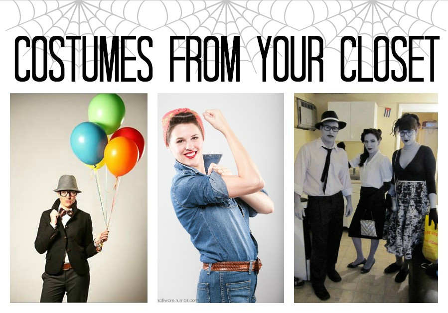 Last Minute Costume DIY  Last Minute Halloween Costumes From Your Closet Made To