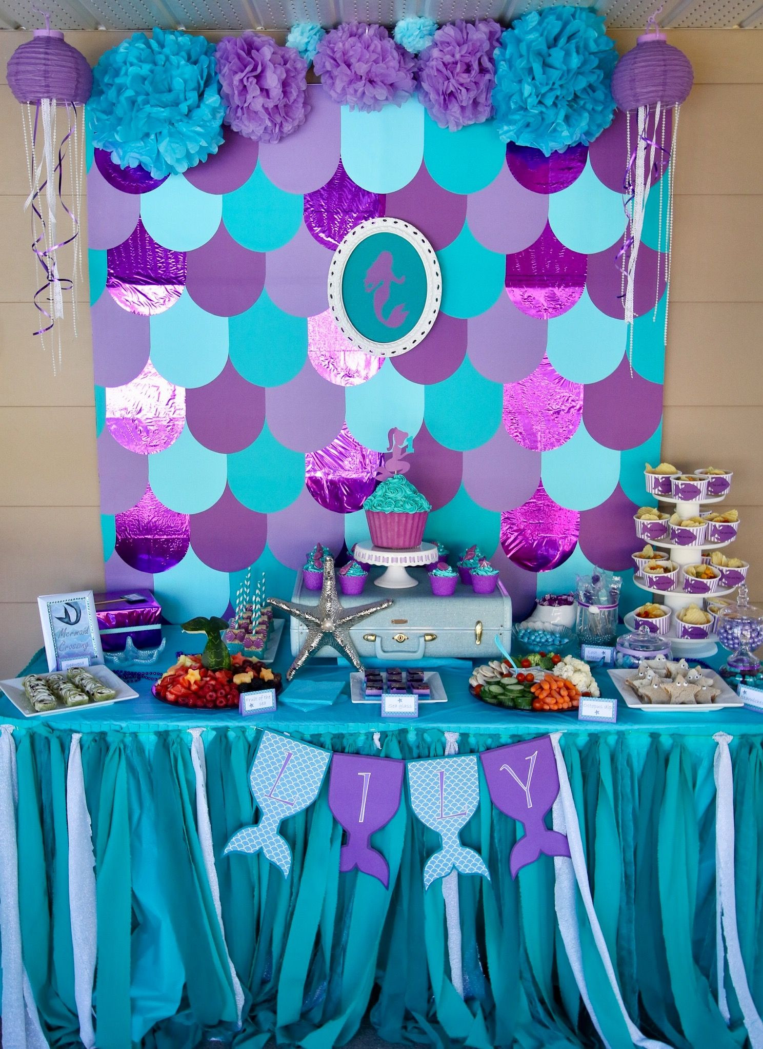 Little Mermaid Party Decoration Ideas  Mermaid party table decorations Under the sea birthday