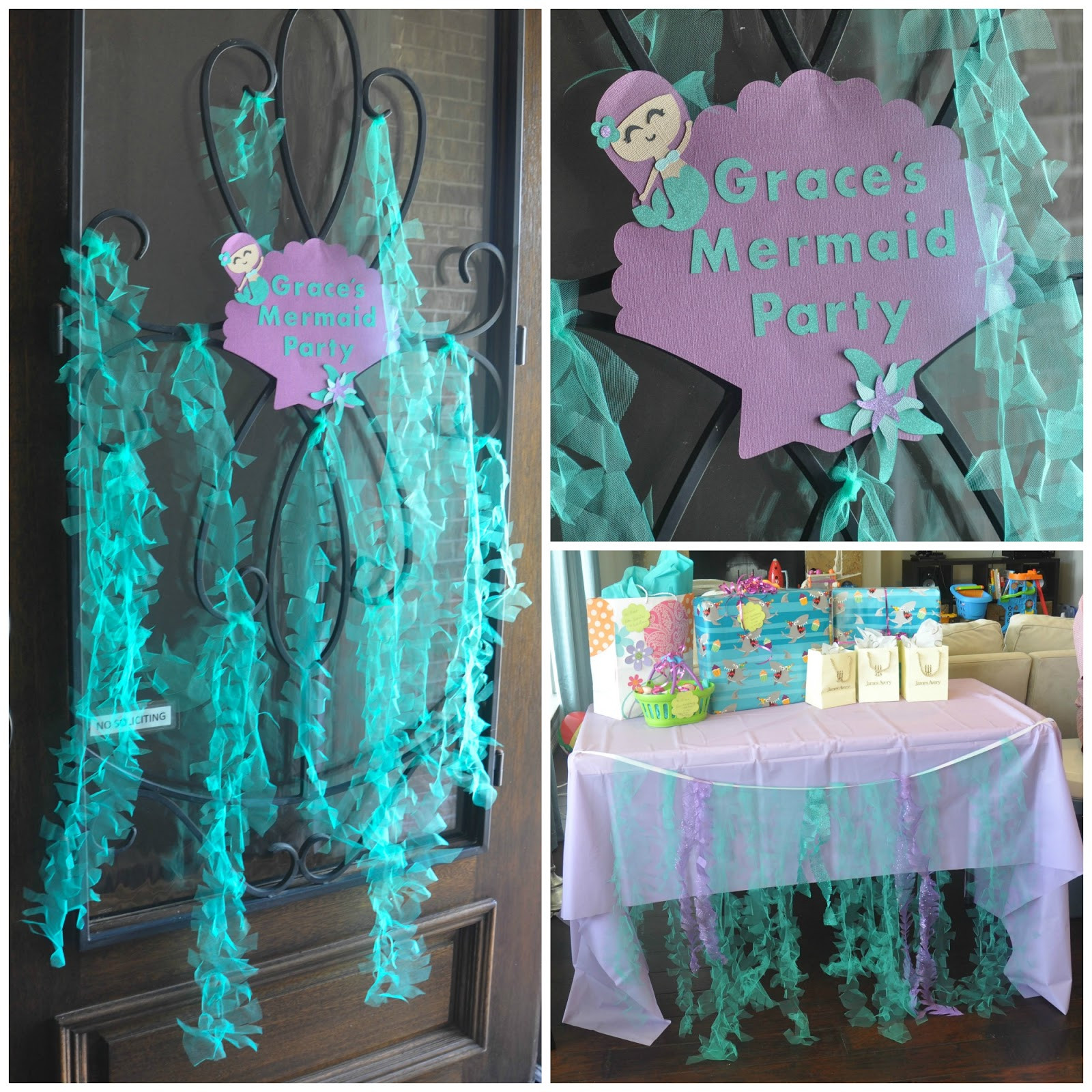 Little Mermaid Party Decoration Ideas  these little loves Sparkly Mermaid Seaweed