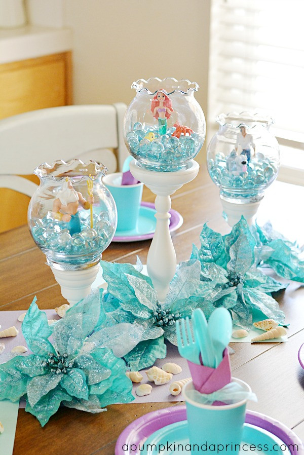 Little Mermaid Party Decoration Ideas  The Little Mermaid Party A Pumpkin And A Princess