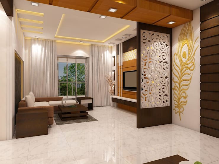 Living Room Partition Ideas  16 beautiful and practical ideas for wooden partitions