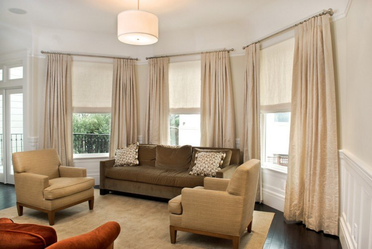 Living Room Window Curtains  20 Beautiful Living Room Designs With Bay Windows