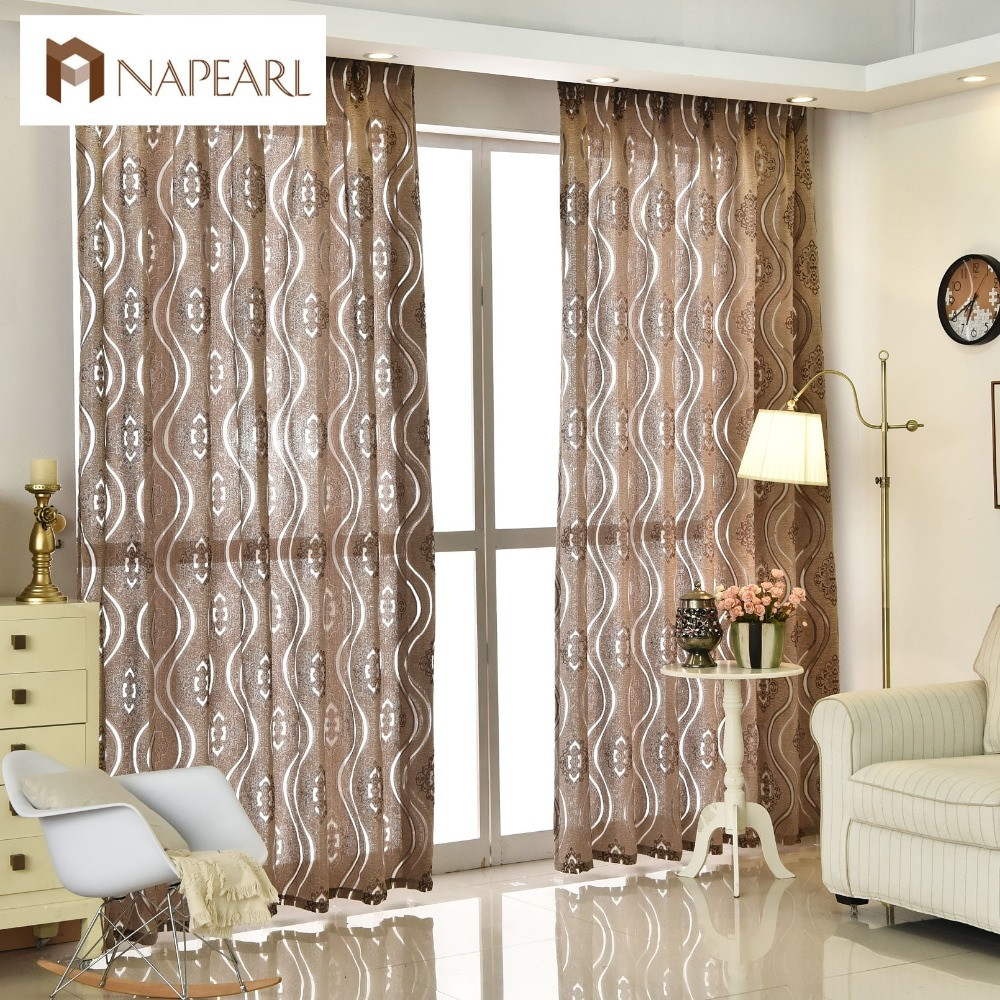Living Room Window Curtains  Modern jacquard curtain home decoration living room
