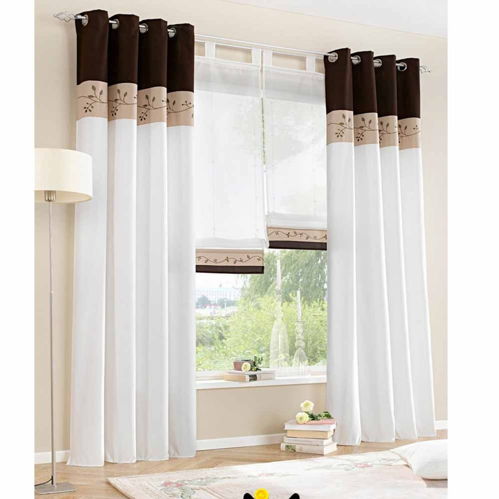 Living Room Window Curtains  1 piece only 2015 New White Living Room Curtains