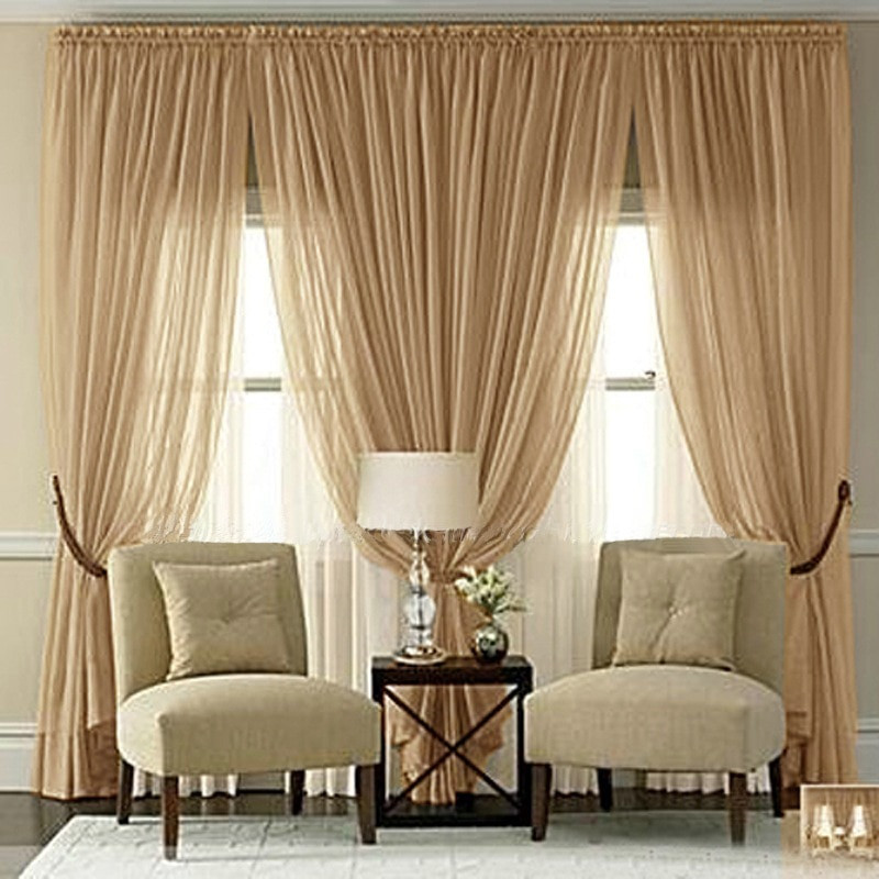 Living Room Window Curtains  Aliexpress Buy 2016 Classic Sheer Curtains For