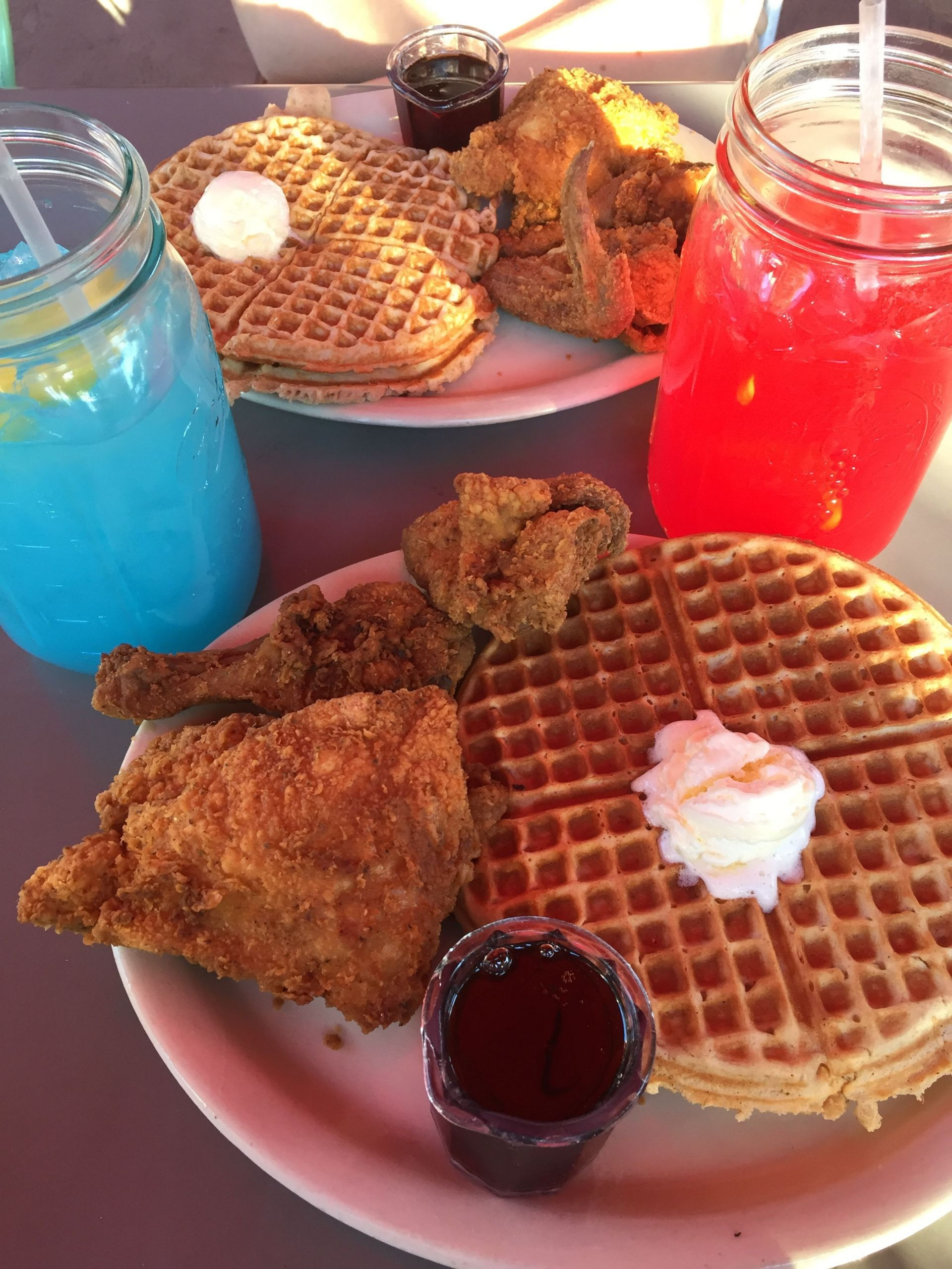 Lolo Chicken And Waffles  Lolo s chicken and waffles and kool aid in 2019