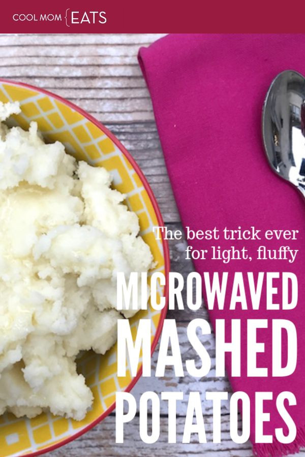 Make Mashed Potatoes In Microwave  The best ever tips for how to make light fluffy mashed