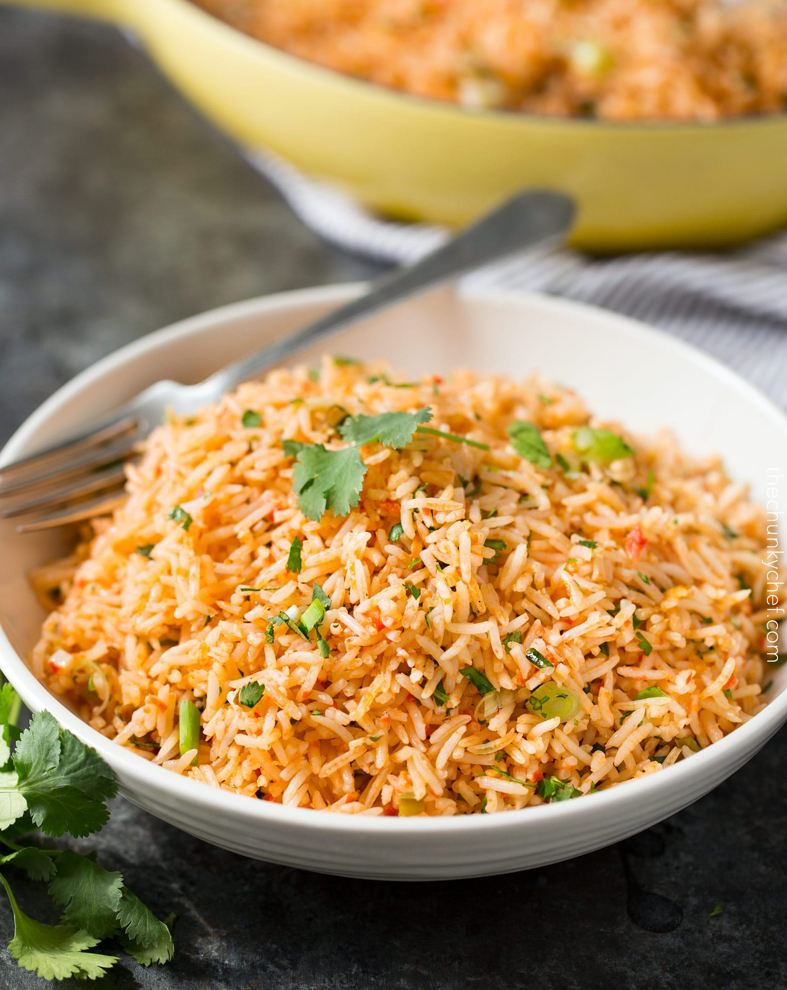 Making Mexican Rice  Easy Baked Mexican Rice The Chunky Chef