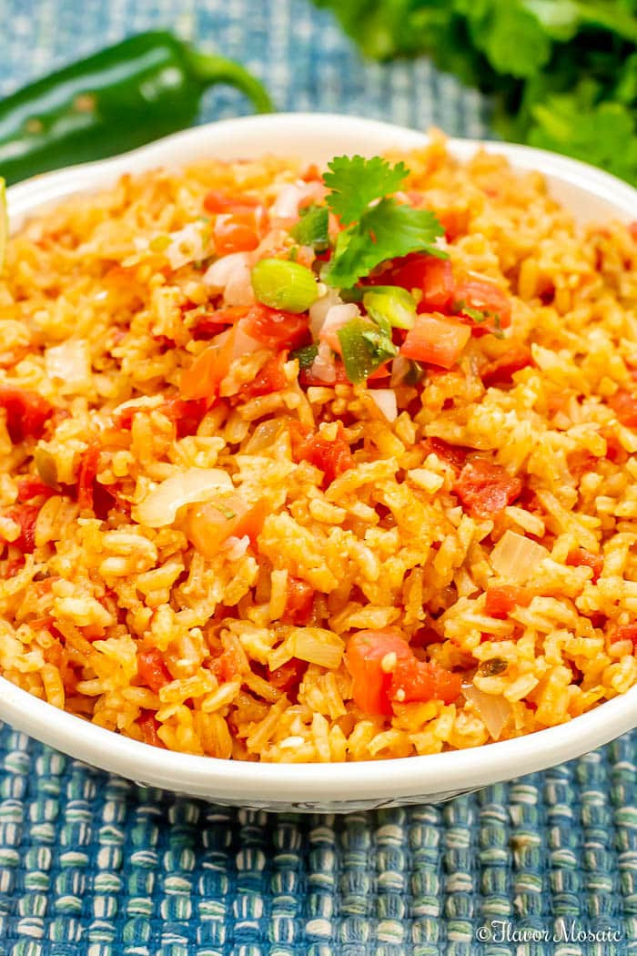 Making Mexican Rice  Easy Homemade Mexican Rice Spanish Rice Flavor Mosaic