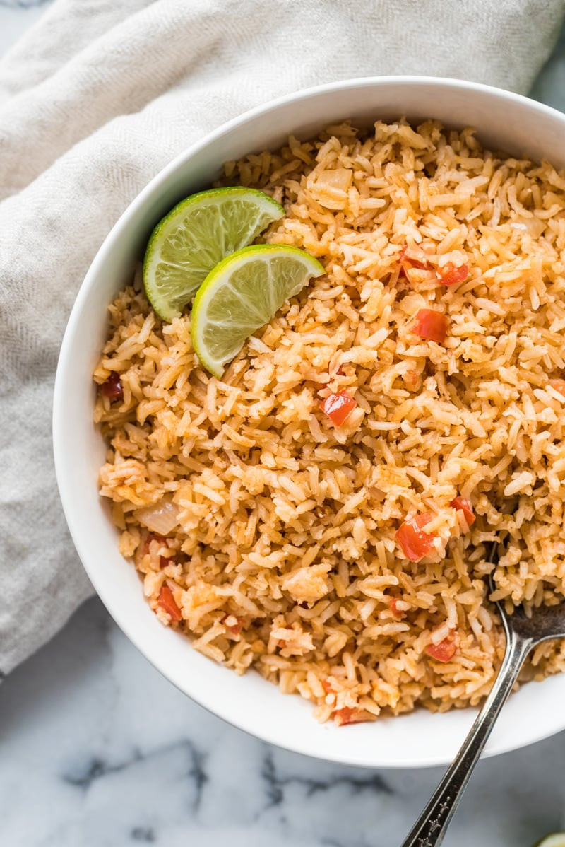 Making Mexican Rice  Authentic Mexican Rice Recipe Isabel Eats