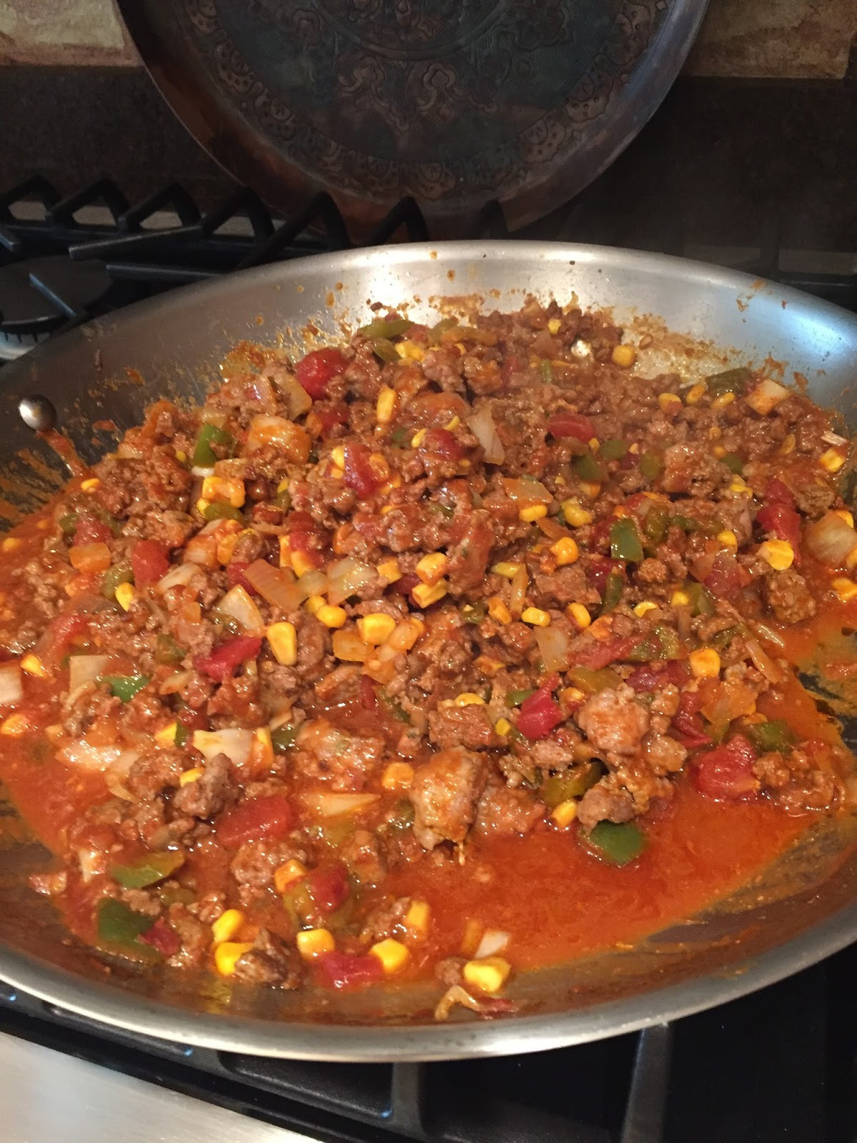 Mexican Casserole With Cornbread Topping  BLUE SKY AHEAD Mexican Casserole with Cornbread Topping