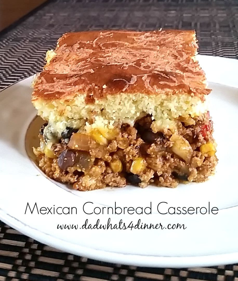 Mexican Casserole With Cornbread Topping  Mexican Cornbread Casserole