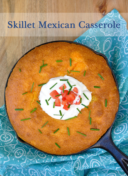 Mexican Casserole With Cornbread Topping  Skillet Mexican Casserole With Corn Bread Topping