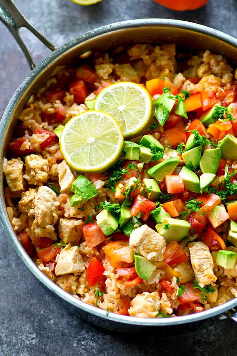 Mexican Chicken And Rice Recipe  e Pot Spicy Mexican Chicken and Rice