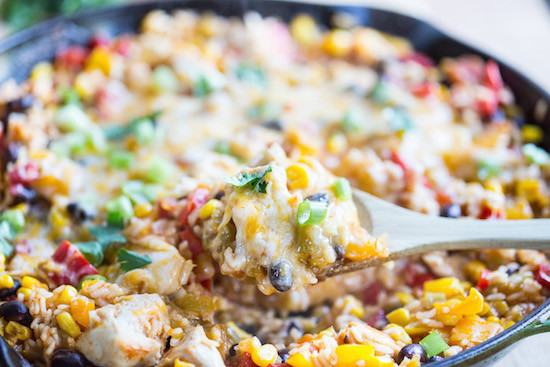 Mexican Chicken And Rice Recipe  e Skillet Mexican Chicken and Rice
