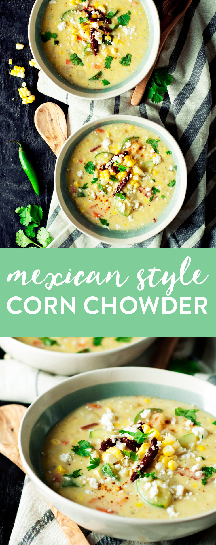 Mexican Corn Chowder  Mexican Style Easy Corn Chowder • A Simple Pantry