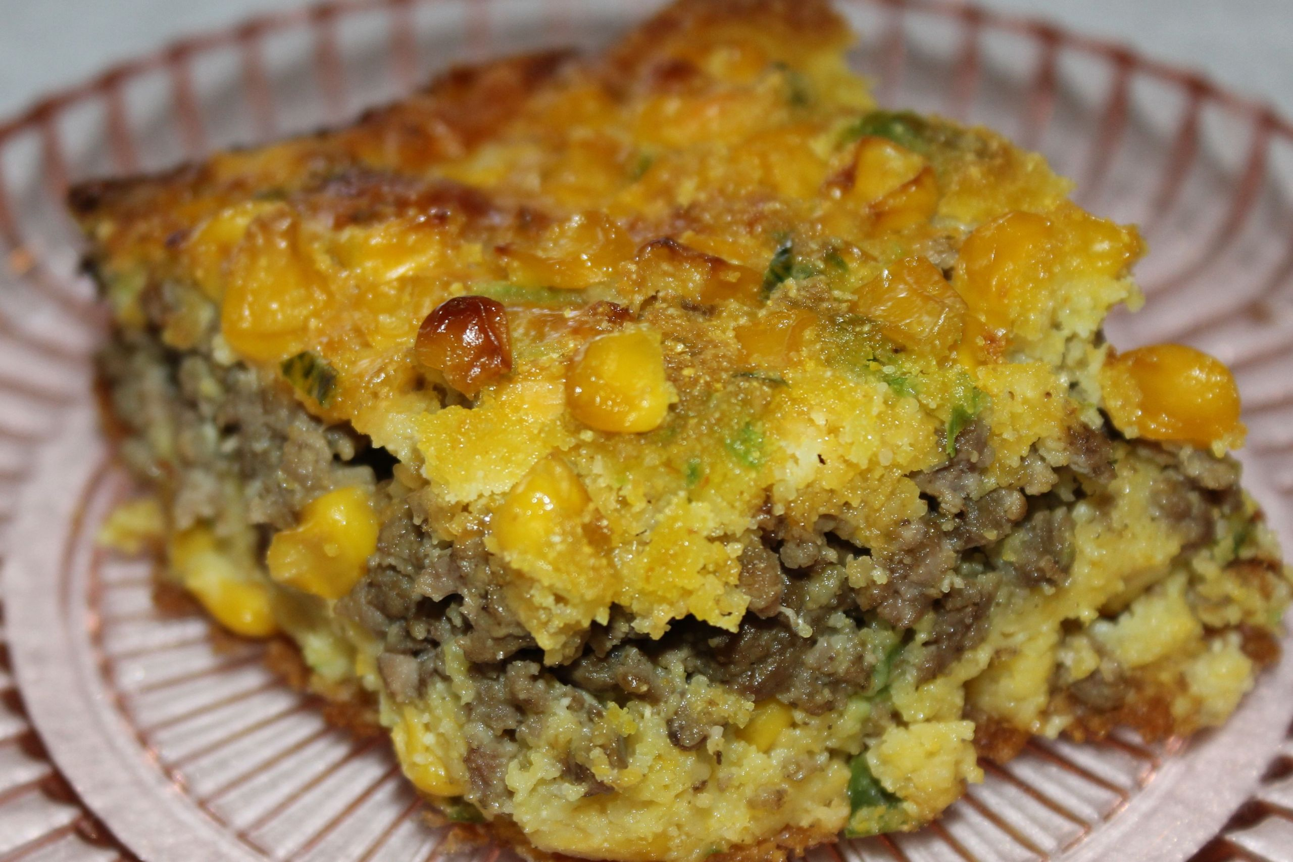 Mexican Cornbread With Ground Beef And Rotel  Ground Beef Jalapeno Cornbread Casserole made this and my
